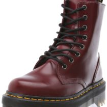 Dr. Martens Jadon Boot Cherry Red Polished Smooth
