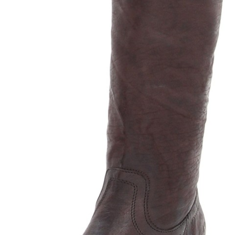 FRYE Carson Tab Tall Knee-High Boot Dark Brown