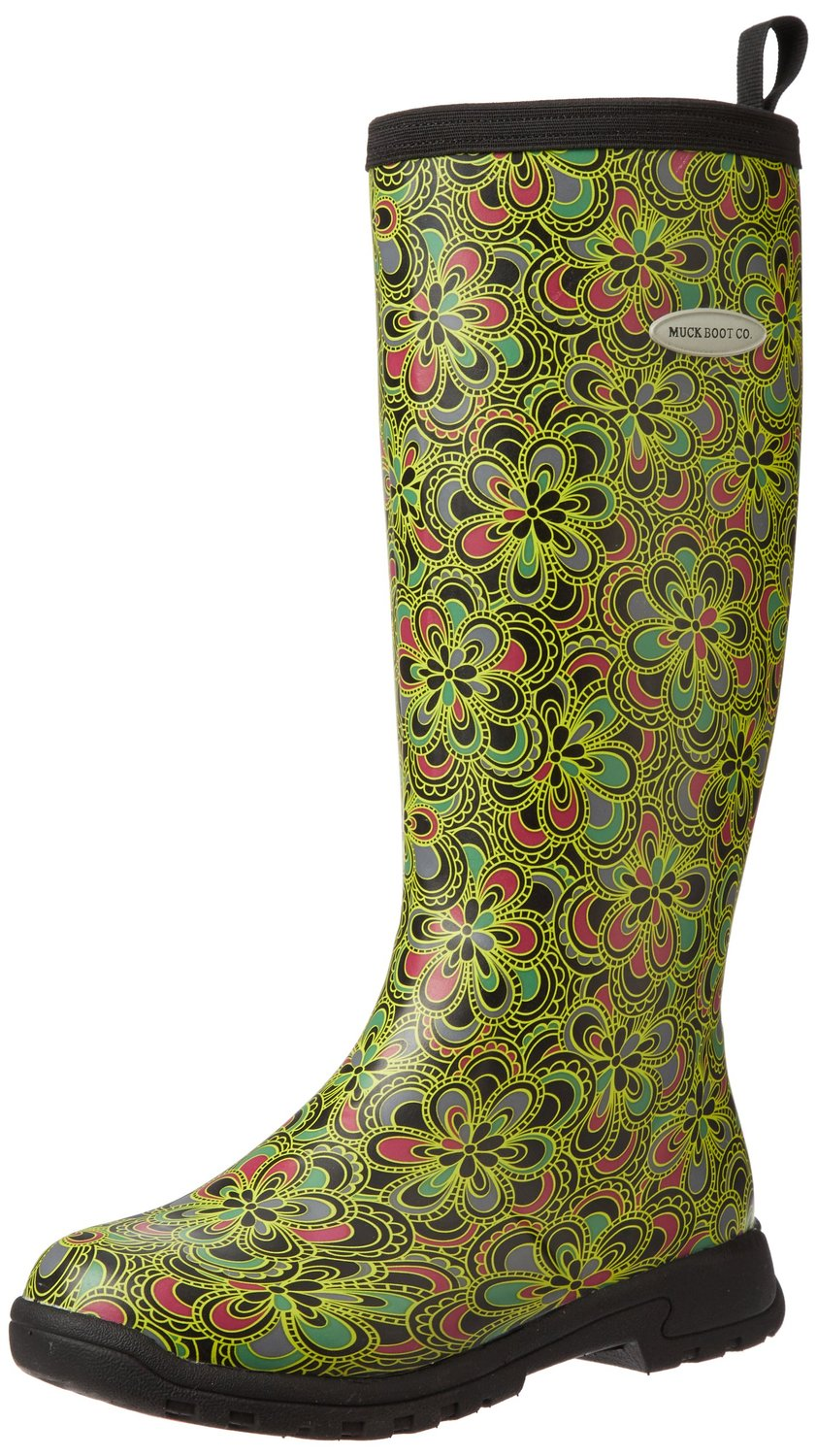 32de075625a Muck Boots Breezy Tall Rain Knee High Boot Green Flower Print