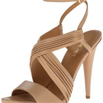Nine West Allysway Leather Dress Sandal Natural Leather