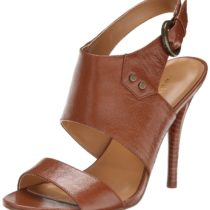 Nine West Amaryllis Leather Dress Pump Dark NaturalDark Natural