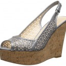 Nine West Axey Metallic Wedge Sandal