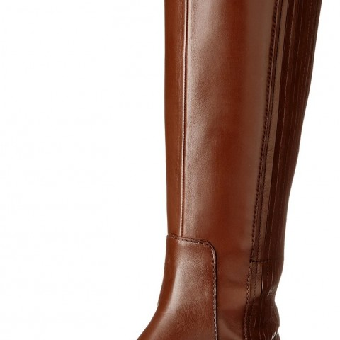Nine West Baille Riding Boot Dark Brown