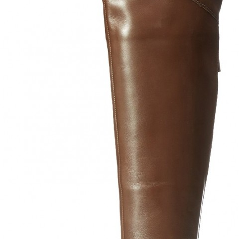 Nine West Beets Riding Boot Dark Brown