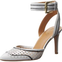 Nine West Calypso Leather D'Orsay Pump WhiteBlack