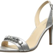 Nine West Ganiston Leather Dress Sandal Silver