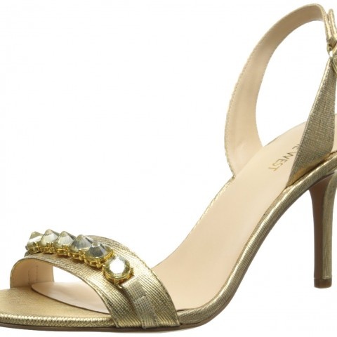 Nine West Ganiston Metallic Dress Sandal Gold