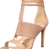Nine West Kiralee Leather Dress Sandal Light Natural Multi
