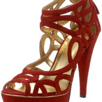 Nine West Knot Sandal Red Suede