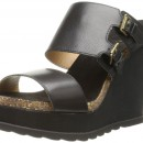 Nine West Liveon Leather Wedge Sandal