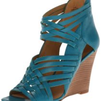 Nine West Mexicali Wedge Sandal Blue Green