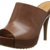 Nine West Razonia Leather Slide Pump Brown