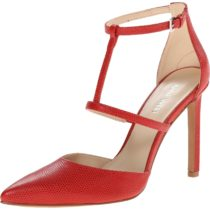 Nine West Tornaydo Leather Dress Pump Red