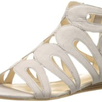 Nine West Turntable Nubuck Dress Sandal Light Grey