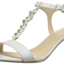 Nine West Yocelin Leather Dress Sandal White