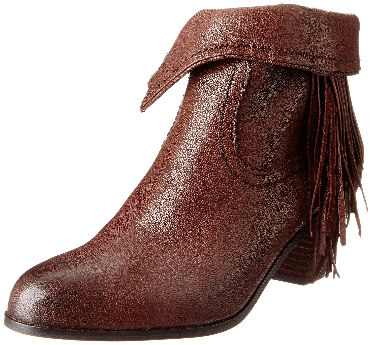 b6141f77208a Sam Edelman Louie Ankle Fringe Boot Brown Leather