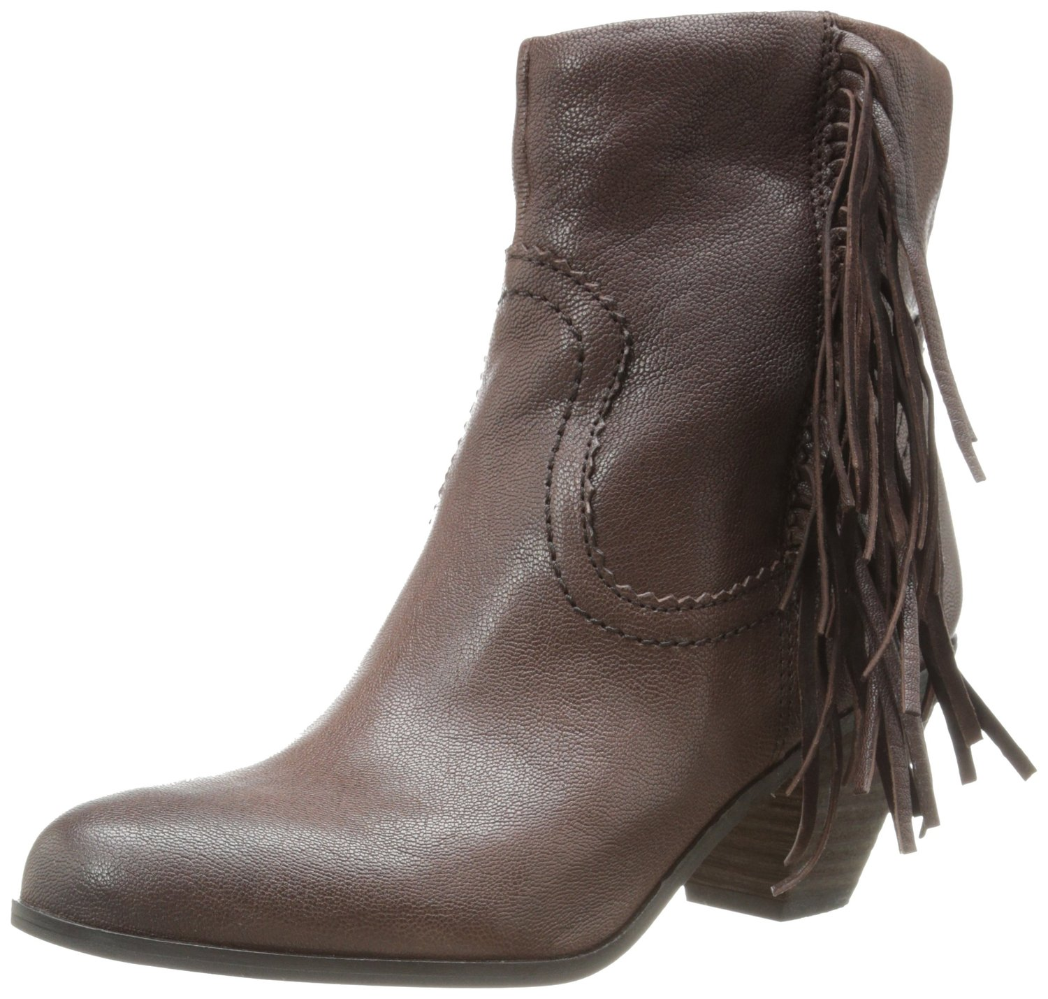 6488947b01e6d Sam Edelman Louie Ankle Fringe Boot Dark Brown Leather