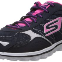 Skechers Go Walk 2 Flash Walking Shoe NavyHot Pink