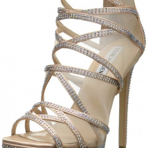 Steve Madden Dame Dress Sandal _Champagne Satin