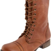 Steve Madden Troopa Lace-Up Tan Leather
