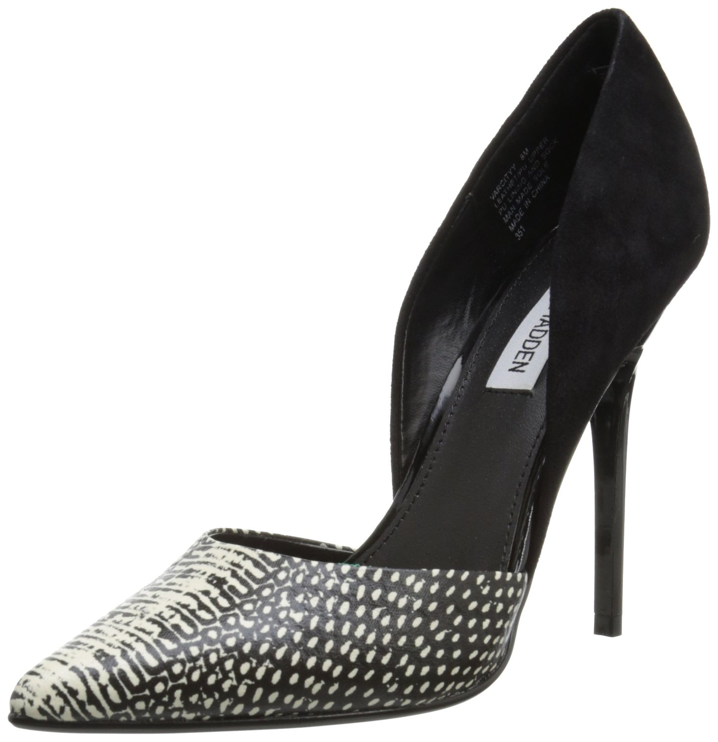 aae868a7d96 Steve Madden Varcityy Dress Pump BlackWhite