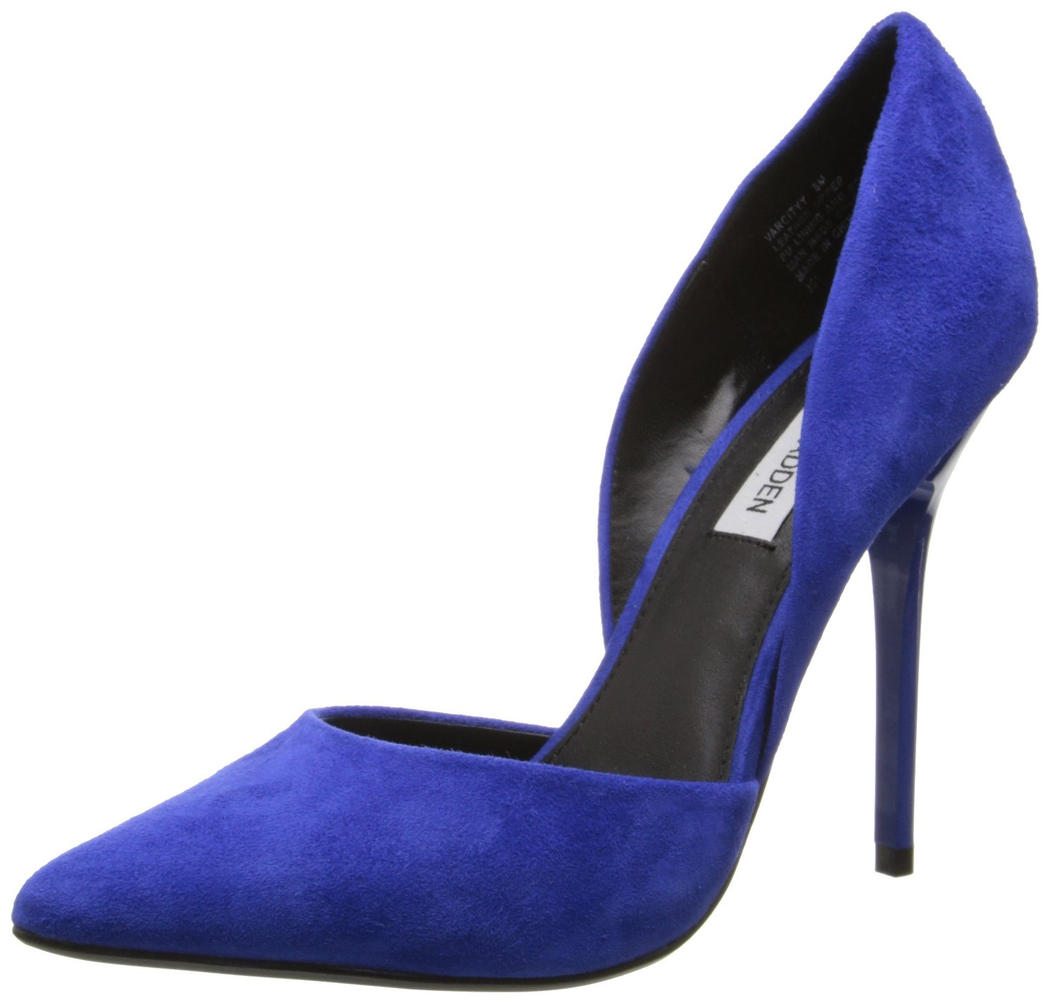 8262d767fc8 Steve Madden Varcityy Dress Pump Blue Suede
