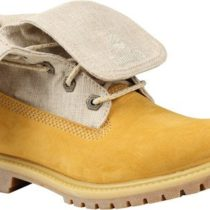 Timberland EK Authentics Canvas Fold Down Flat Wheat Nubucks