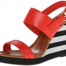 Kate Spade Bina Striped Foam Buckle Wedge Sandal