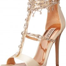 Badgley Mischka Dent Dress Sandal Ivory