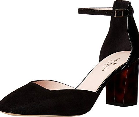 Kate-Spade-New-York-Womens-Opal-Black-Kid-SuedePatent-DOrsay-95-M-0