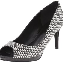 Nine West Gelabelle Pump Black White Textured Color