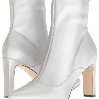 Nine West Jesson Synthetic Ankle Boot Light Silver