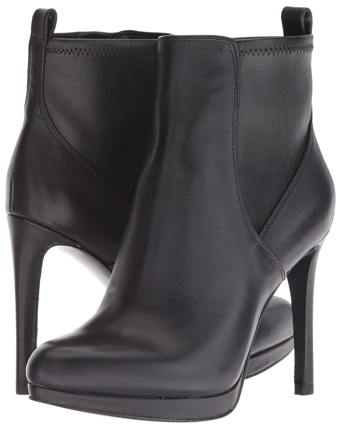 Nine West Quillin Leather Ankle Boot Black Leather