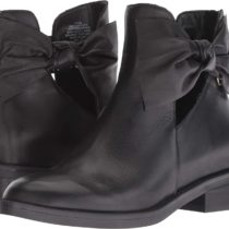 Nine West Tinasofa Suede Ankle Boot Black Leather
