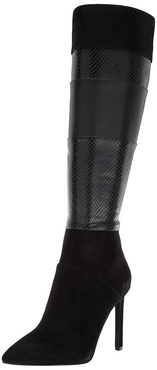 Nine West Toprank Suede Knee High Boot Multi Black 2