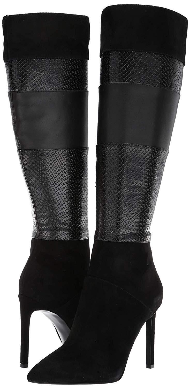 Nine West Toprank Suede Knee High Boot Multi Black 3