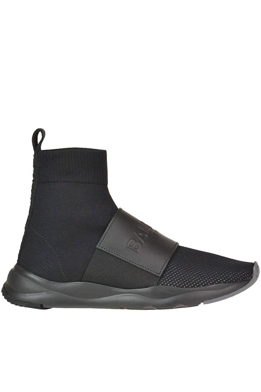 Balmain MCGLCAK000005015E Black Fabric Slip On Sneakers 02