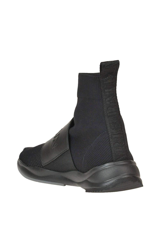 Balmain MCGLCAK000005015E Black Fabric Slip On Sneakers 03