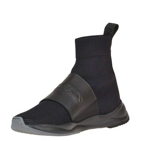Balmain MCGLCAK000005015E Black Fabric Slip On Sneakers 04