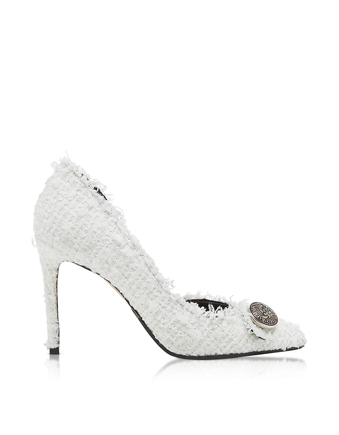 Balmain RN1C019TTWD0FA White Leather Pumps 02