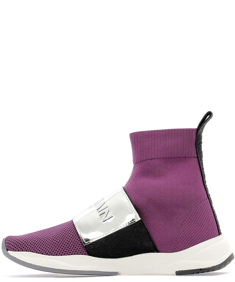 Balmain RN1C038TCZHVAQ Purple Fabric Ankle Boots 03
