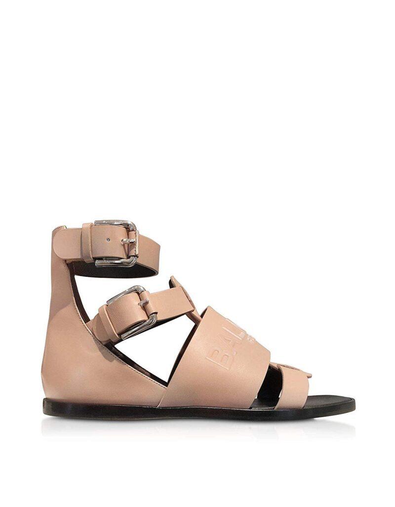 Balmain S8FC156PGDB1021 Pink Leather Sandals 02