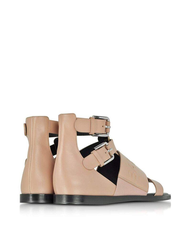 Balmain S8FC156PGDB1021 Pink Leather Sandals 03