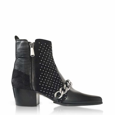 Balmain W8FC303PCBN176 Black Leather Ankle Boots 02