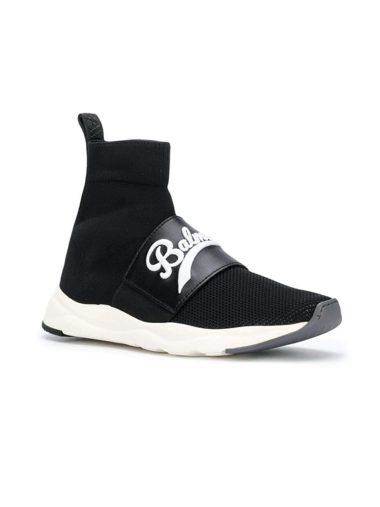 Balmain W8FC342PCZS176 Black Polyamide Sneakers 01