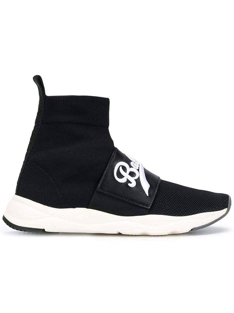 Balmain W8FC342PCZS176 Black Polyamide Sneakers 02