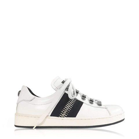 Balmain W8FC353PVSY100 White Leather Sneakers 01