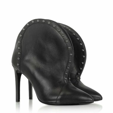 Balmain W8FC636PGDB176 Black Leather Ankle Boots 01