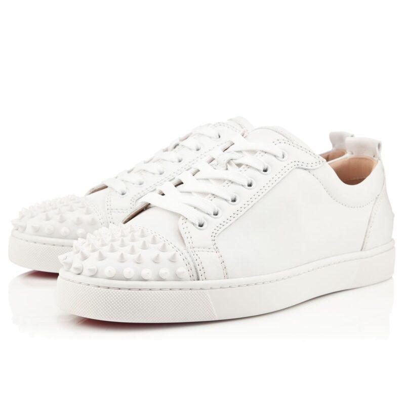 Christian Louboutin Authentic Louis Flat Calf White Sneaker 01