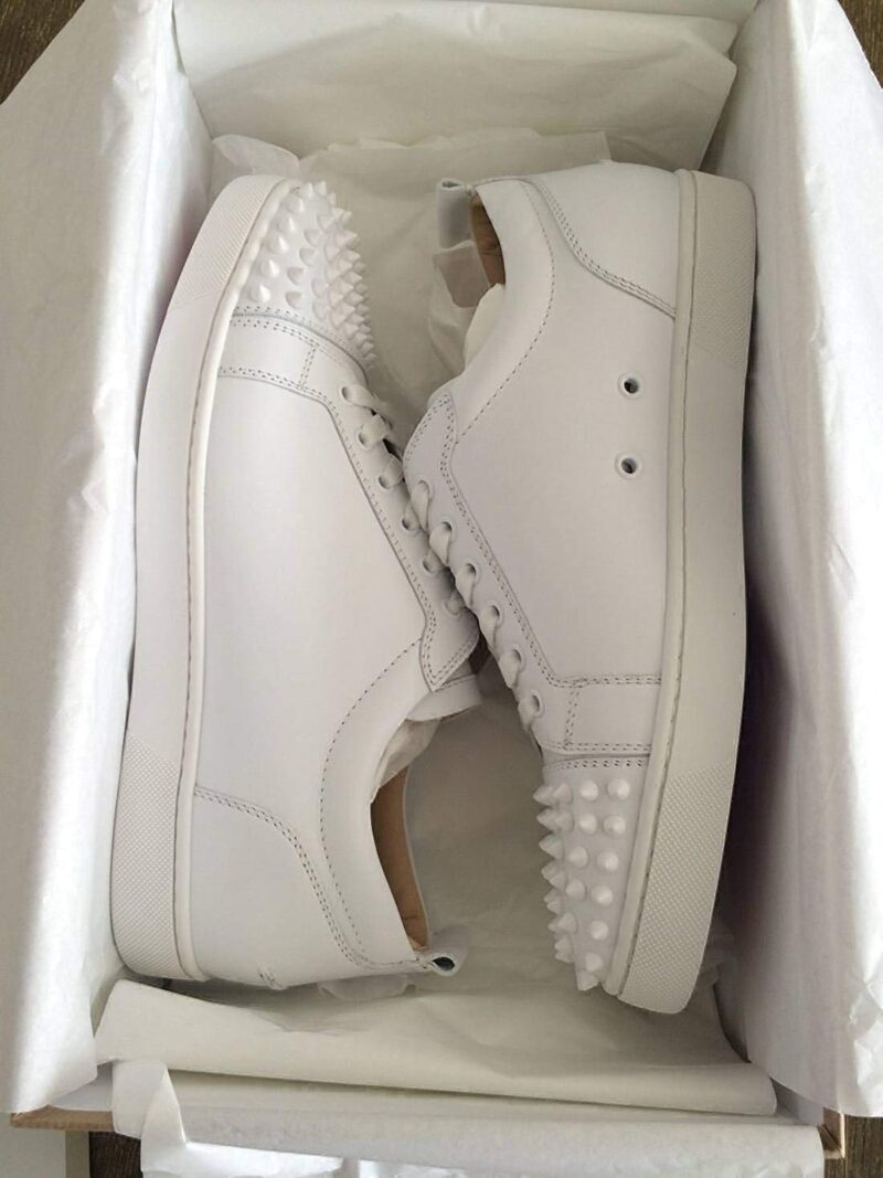 Christian Louboutin Authentic Louis Flat Calf White Sneaker 02